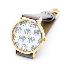 Elephant strap watch (3 colors)