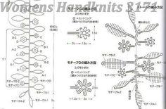 leaves 'n flowers necklace pattern 2