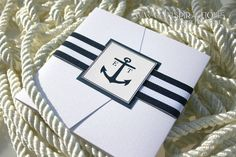 Nautical Wedding Invitation por InspirationsbyAmieLe en Etsy