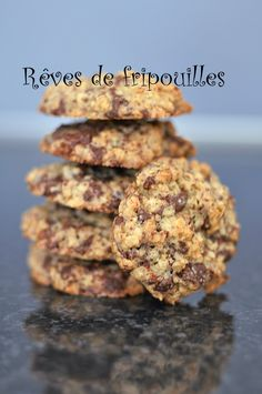 Muesli Cookies, Sweet Recipes, Healthy Recipes, Healthy Cookies, Cookies Et Biscuits, Dessert Recipes, Food And Drink, Gluten, Nutrition