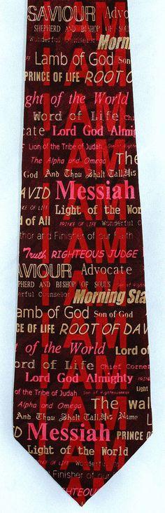 I AM The Christ Mens Necktie Christian Jesus Easter Religious Gift Him Tie New #StevenHarris #NeckTie