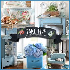 Take Five: A Touch of Cottage Charm - I'm so glad I found this site. Check it out; you will be glad too!