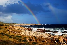 Double Rainbow, Pringle Bay, South Africa - Liz Potgieter like by at The Wise Herb Company Out Of Africa, South Africa, Haha, Rainbow, Mountains, Beach, Water, Nikon D3000, Fun