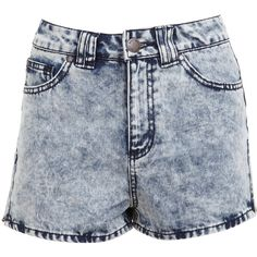 Miley High Waist Acid Wash Shorts - Black by Eunina Jeans | Acid ...