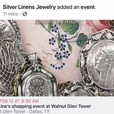 Come see Lynda and explore through the treasures that she will have available. The perfect time to get an exquisite gift for yo ur special… Come And See, Wearable Art, Linens, Monogram, Explore, Sterling Silver, Antiques, Gifts, Accessories