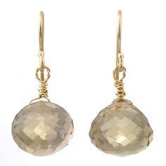 briolette drop earrings