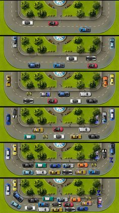 This illustration is made for footer. For car fans in social network. There were drawn about 20 different cars of Top users www.smotra.ruThe illustration is changing its view in accordance with site workload and take turns for day and night.