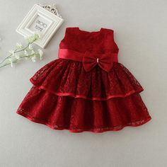 New Baby Girl Dress Hollow Lace Princess Infant Wedding Party Dresses Red White Newborn Gown baby girl clothes month - Baby Girl Dress - Ideas of Baby Girl Dress Baby Girl Frocks, Frocks For Girls, Dresses Kids Girl, Cute Baby Dresses, Kids Frocks Design, Baby Frocks Designs, Baby Outfits, Kids Outfits, Night Outfits