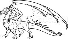 How to Draw a Dragon Body, Step by Step, Dragons, Draw a Dragon, Fantasy, FREE Online Drawing Tutorial, Added by Dawn, November 20, 2014, 6:59:18 pm