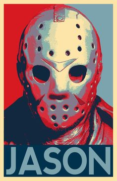 Jason Voorhees from Friday the Illustration - Horror Movie Pop Art Halloween Slasher Home Decor in Poster Print or Canvas Jason Friday, Friday The 13th, Freddy Krueger, Arte Horror, Horror Art, Horror Movie Characters, Horror Movies, Arte Dope, Culture Pop