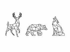 Ideas origami tattoo deer geometric animal for 2019 Origami Tattoo, Geometric Drawing, Geometric Art, Geometric Animal, Geometric Origami, Geometric Sleeve, Origami Design, Geometric Designs, Geometric Tattoo Animal