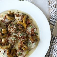 Fläskfilépanna med lufttorkad skinka & champinjoner - Recept från Mitt kök - Mitt Kök | Recept | Mat | Vin | Öl