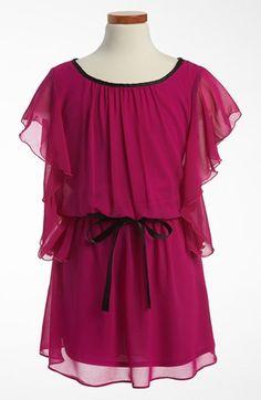 Sally Miller Flutter Sleeve Dress (Big Girls) available at #Nordstrom