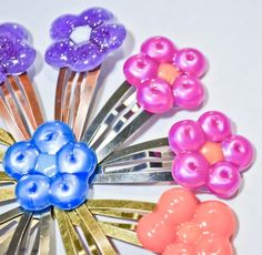hair clips from melted pony beads