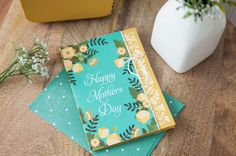 Happy Mother's Day floral card. Make It Now with the Print then Cut feature and Cricut Explore machine in Cricut Design Space.