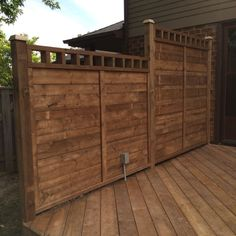 Pt deck privacy wall with electrical outlet
