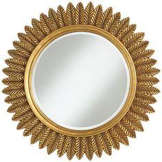 "Caesar Antique Gold Leaves 32"" Round Mirror Verona Road http://www.amazon.com/dp/B00IPIF50Y/ref=cm_sw_r_pi_dp_BYVnvb1B8Q75M"