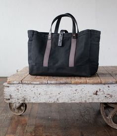 artifact bags | carpenter tote in waxed canvas