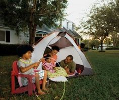 Camping in the Backyard with young kids :)