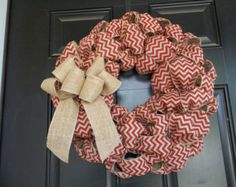 Items similar to Patriotic, Memorial Day, 4th of July Burlap Wreath on Etsy