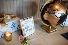 Obsessed with this Around the World guest globe! Photograph taken by Erika Rose.