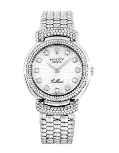 Beautiful combination of white gold and diamond with this Rolex Cellini