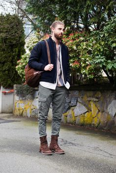 drag to resize or shift-drag to move Trendy Mens Fashion, Hair And Beard Styles, Trending Memes, Fashion Looks, Style Fashion, Bomber Jacket, Hipster, Style Inspiration, Outfits