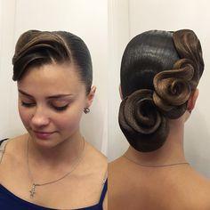 "157 Likes, 3 Comments - Кристина Ефимова  (@style.by.kri) on Instagram: ""Hairstyle by me#ballroom #ballroomdance #ballroomdancing #wdc #wdsf #стср #ртс #фтсспб #hair…"""