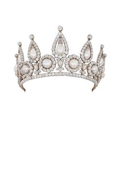 Pearls: Lady Rosebery's pearl and diamond tiara. London c.1878