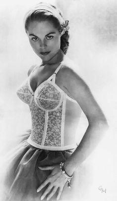 1950s Long line Bullet bra