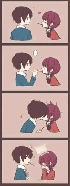 OMG so cute. I always look for Anime couple with girls that look like me