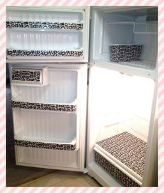 Shelf Lining The Fridge, Cute Smart Fun Crafty Idea