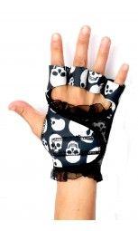 G-Loves Workout Gloves for Women | Skull Black Lace $45