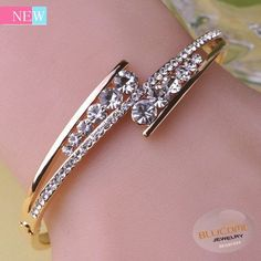 2015 Luxurious Crystal Fine Jewelry Pulseras Mujer Joias Stainless Steel Bangle Love Bracelet Bijuteria Pulseira Masculina Bijou