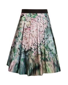 Pretty Colours. Pretty Print. MUST HAVE! OVALD | Glitch floral full skirt - Peach | Skirts | Ted Baker