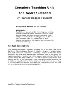 the secret garden study guide pdf