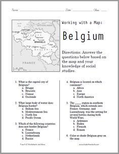 Blank world map worksheet free to print social studies heres a free printable map worksheet on belgium its versatile and self contained and works for grades free to print pdf gumiabroncs Gallery