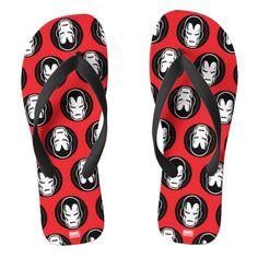 Iron Man Retro Icon Flip Flops