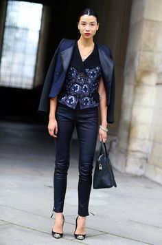 How To Wear Leather Pants | The Zoe Report