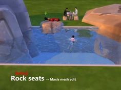Mod The Sims - Rock seats - Maxis mesh edit