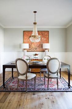 Dining Room Paint Colors, Dining Room Wall Decor, Dining Room Design, Dining Room Chairs, Room Decor, Hallway Designs, Beautiful Dining Rooms, Dining Room Inspiration, Design Inspiration