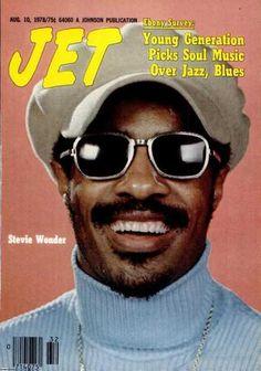 Stevie Wonder - Jet Magazine (notice the headline) Jet Magazine, Black Magazine, Ebony Magazine Cover, Magazine Covers, John Johnson, Essence Magazine, Vintage Black Glamour, Black Actors, Black History Facts