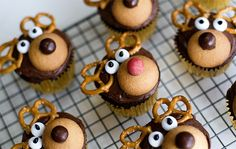 cute little rudolph cupcake decoration
