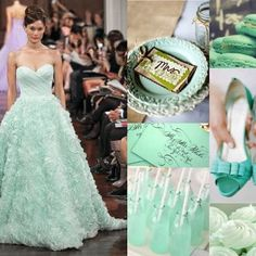 Such a pretty colour - #mint! Would be awesome for #bridesmaids.