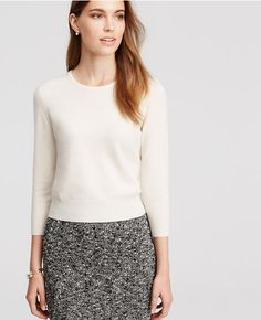 Primary Image of Cropped Cashmere Sweater