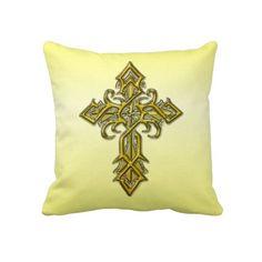 Travesseiro decorativo transversal medieval dourad