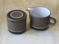 Hornsea Contrast pattern Small Milk Jug and Sugar Pot by TheKnally