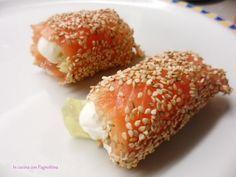 Involtini croccanti di salmone   In cucina con Pagnottina