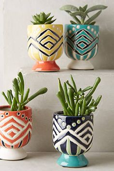 I want to put these in someone's kitchen above the sink...Anyone in?  Anivalda Mini Garden Pot from #anthropologie #kellydandesign