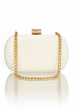 This would be the perfect bridal clutch